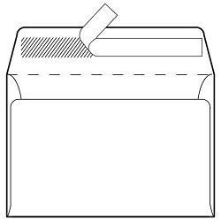 Kuverte B6-BB strip 75g pk1000 Fornax