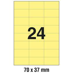 Etikete ILK  70x37mm pk100L Zweckform 3451 žute