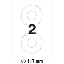 Etikete ILK za CD/DVD fi-117mm classic size pk100L Zweckform L6043-100