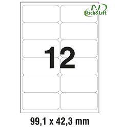 Etikete ILK  99,1x42,3mm odljepljive pk25L Zweckform L4743REV-25