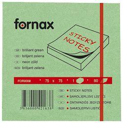 Blok samoljepljiv  75x75mm  80L Fornax neon-zeleni