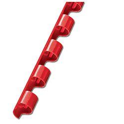 Spirala plastična fi-12mm pk100 Fornax crvena