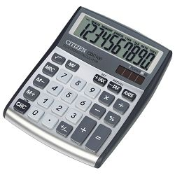 Kalkulator komercijalni 10mjesta Citizen CDC-100 srebrni blister!!