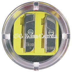 Šiljilo pvc s pvc kutijom 2rupe okruglo Faber Castell 185498 blister