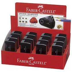 Šiljilo pvc s pvc kutijom 2rupe Faber Castell 182700 crno