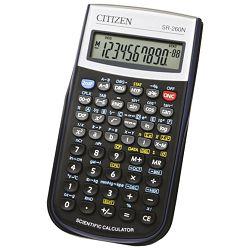 Kalkulator tehnički 10+2mjesta 165 funkcija Citizen SR-260N crni blister