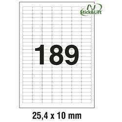 Etikete ILK  25,4x10mm odljepljive pk25L Zweckform L4731REV-25