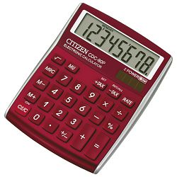 Kalkulator komercijalni  8mjesta Citizen CDC-80 crveni blister