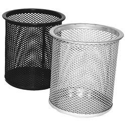 Čaša za olovke metalna žica okrugla fi-9xH-9,7cm LD01-189 Fornax srebrna