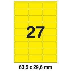Etikete LK  63,5x29,6mm pk25L Zweckform L6004-25 neon žute