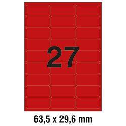 Etikete LK  63,5x29,6mm pk25L Zweckform L6003-25 neon crvene