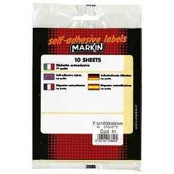 Etikete slep 100x46mm pk10L Markin 10051 blister