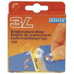 Etikete za ojačanje rupa fi13mm pp pk500 3L.8214-500 prozirna blister