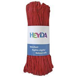 Rafija prirodna 50g Heyda 20-48877 91 crvena