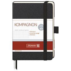 Notes A6 karo 96L  80g s gumicom Kompagnon Brunnen 10-55218-05 crni