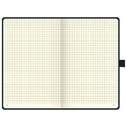 Notes A5 karo 96L  80g s gumicom Kompagnon Brunnen 10-55228 05 crni
