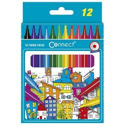 Flomaster školski  12boja Connect blister