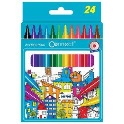 Flomaster školski  24boje Connect blister