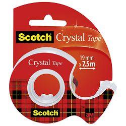 Traka ljepljiva nevidljiva 19mm/ 7,5m Scotch Crystal 3M.blister