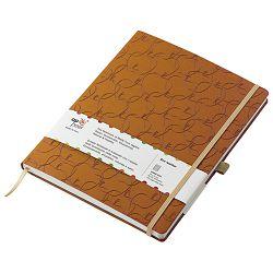 Notes Appeel 13x21cm crte s gumicom umjetna koža Royal M39YL-743 tamno žuti (Renetta)!!