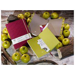 Notes Appeel 13x21cm crte s gumicom umjetna koža Royal M39YL-745 bordo (Pink Lady)!!