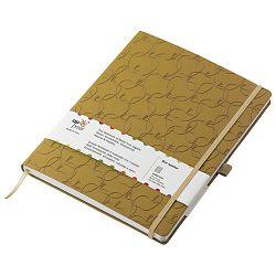 Notes Appeel  9x14cm crte s gumicom umjetna koža Royal M32YL-740 žuti (Golden Delicious)!!