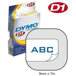 Vrpca D1  9mmx7m Dymo 40914 plavo-bijela!!