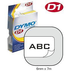 Vrpca D1  6mmx7m Dymo 43613 crno-bijela