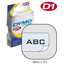 Vrpca D1 12mmx7m Dymo 45010 crno-prozirna