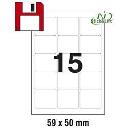 Etikete ILK za diskete 59x50mm odljepljive pk25L Zweckform L4747REV-25