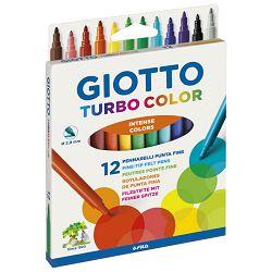 Flomaster školski  12boja Giotto Turbo Color Fila 0714 blister