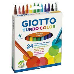 Flomaster školski  24boje Giotto Turbo Color Fila 0715 blister