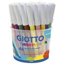 Flomaster školski  48boja (12bojax4kom) u pp posudi Giotto Maxi Fila 5214
