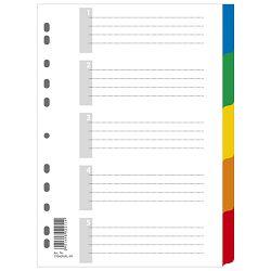 Pregrada plastična A4 kolor  5listova Donau 7704095PL-99