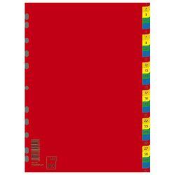 Pregrada plastična A4 brojevi 1-31 kolor Donau 7736095PL-99