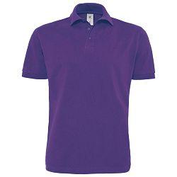 Majica kratki rukavi Polo B&C Heavymill 230g ljubičasta XL!!