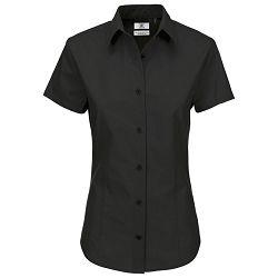 Košulja ženska kratki rukavi B&C Heritage 125g crna XL