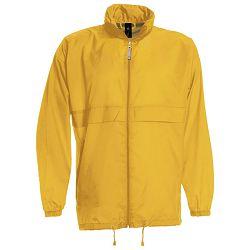 Vjetrovka s kapuljačom zip unisex B&C Sirocco zlatna žuta M
