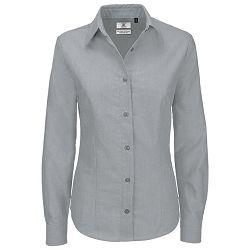Košulja ženska dugi rukavi B&C Oxford 135g srebrna XL!!