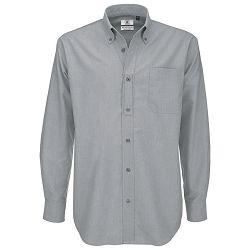 Košulja muška dugi rukavi B&C Oxford 135g srebrna M!!