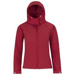 Jakna zip ženska B&C Hooded Softshell crvena XL!!
