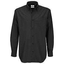 Košulja muška dugi rukavi B&C Oxford 135g crna XL!!