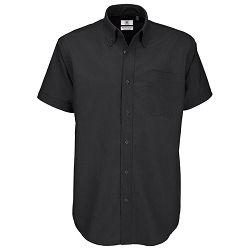 Košulja muška kratki rukavi B&C Oxford 135g crna S!!