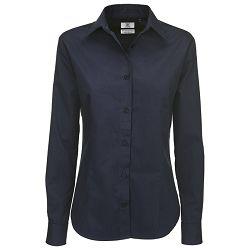 Košulja ženska dugi rukavi B&C Sharp 130g tamno plava XS!!