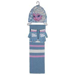 Šal+kapa+rukavice Frozen Elsa Cerda 2200000448 svijetlo plavi!!
