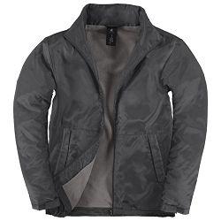 Jakna zip muška B&C Multi-Active/men tamno siva XL!!