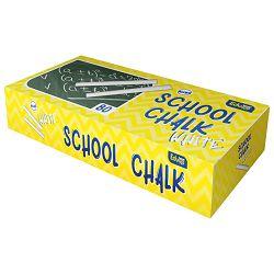 Kreda školska okrugla fi-12mm pk80 Educa bijela!!