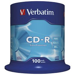 CD-R 700/80 52x spindl Extra protection pk100 Verbatim 43411
