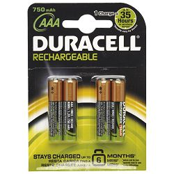 Baterija za punjenje 1,2V AAA pk4 Duracell HR03 blister
