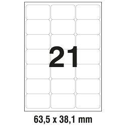 Etikete LK  63,5x38,1mm polyester pk25L Zweckform L7560-25 prozirne